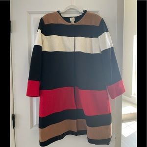 Chico's striped color block wool jacket